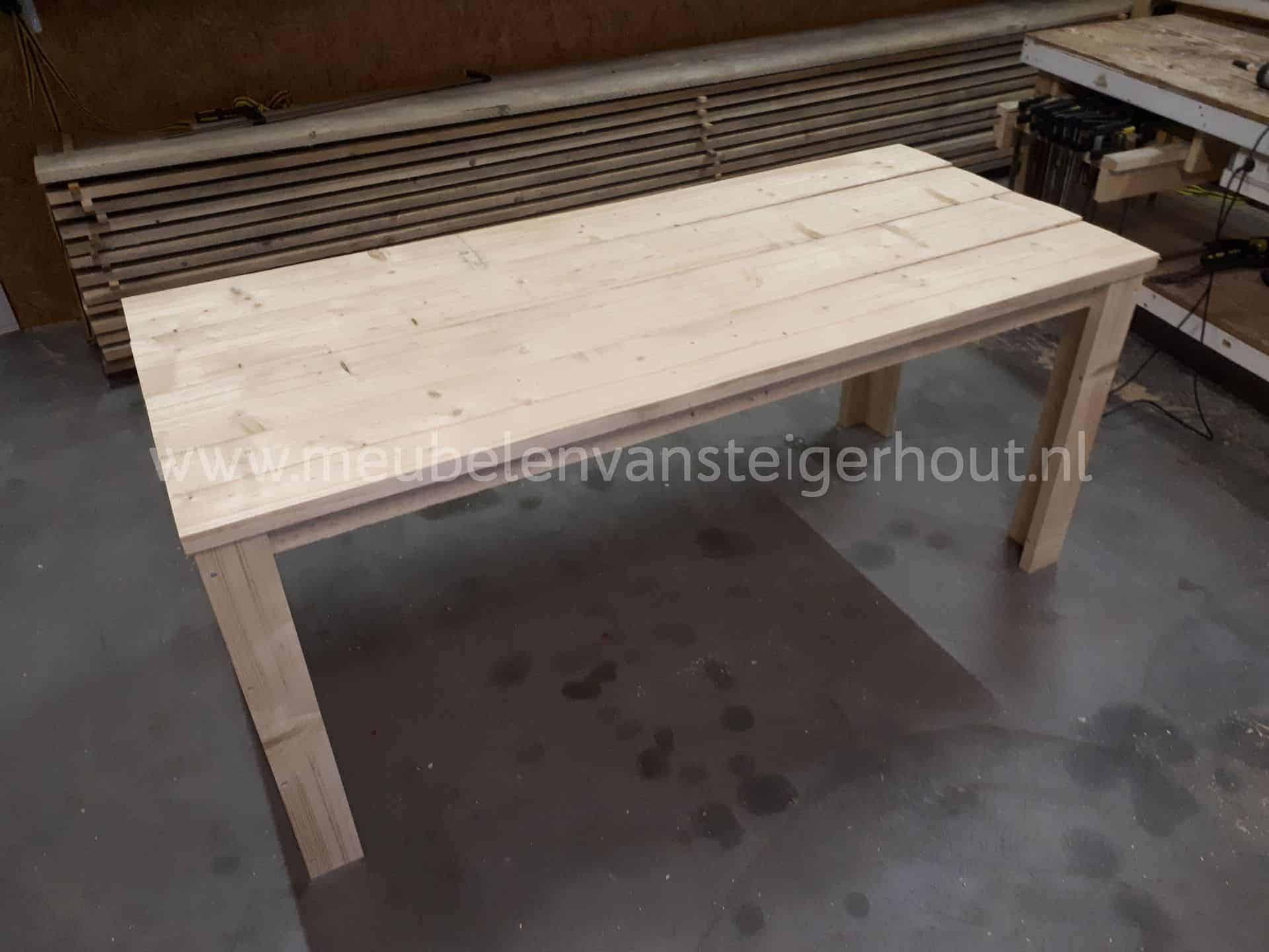 Zelf Tafel Maken : Doe het zelf tafel cm breed meubelen van steigerhout