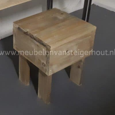 Kruk steigerhout voor kinderbureau steigerhout
