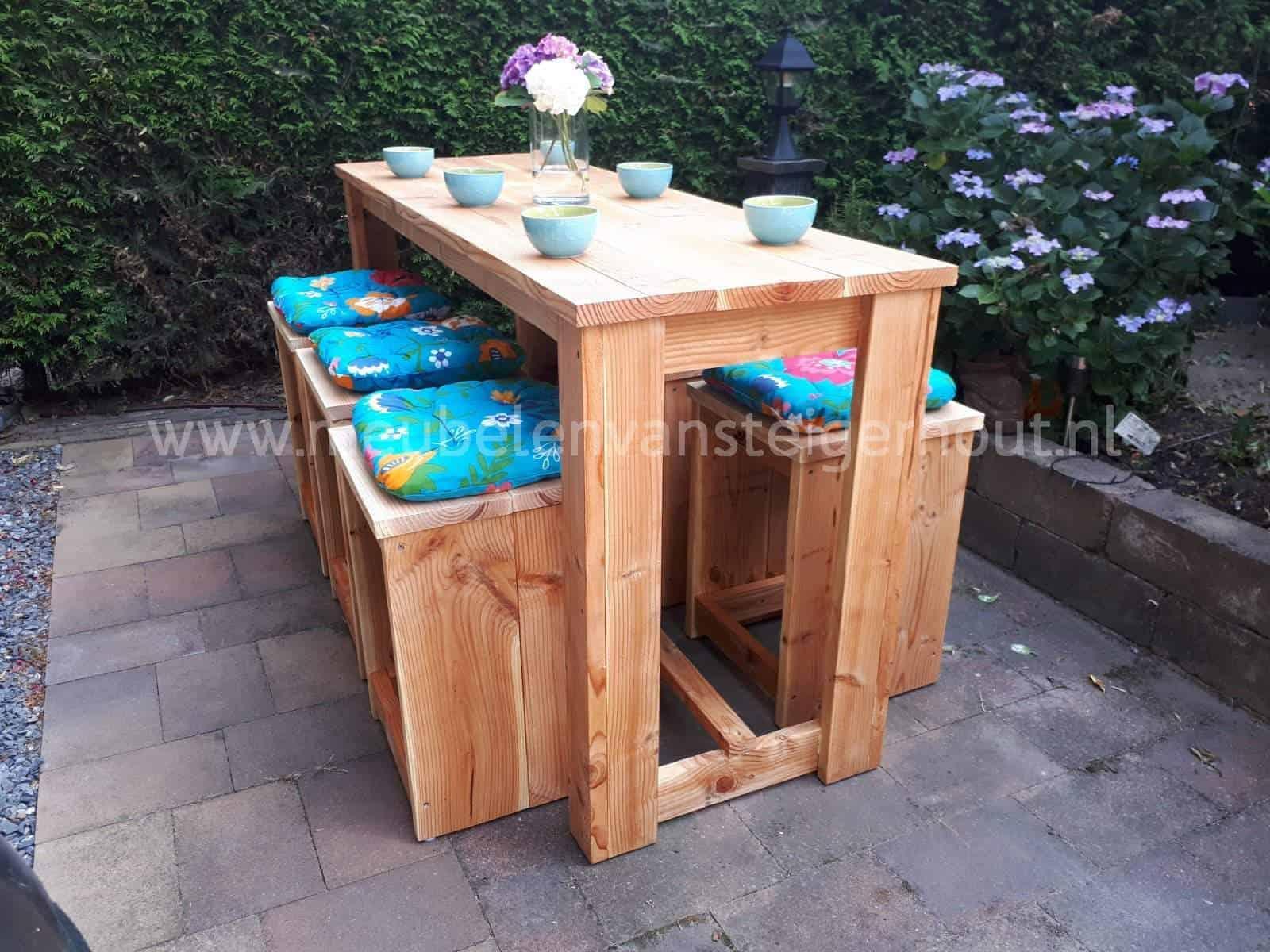 Nieuw Bartafel douglas steigerhout | Meubelen van Steigerhout EX-24