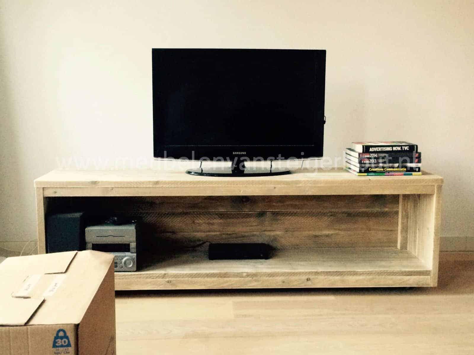 Verbazingwekkend TV meubel steigerhout 11 | Meubelen van Steigerhout QC-04