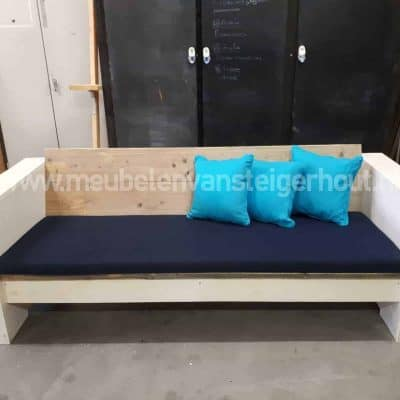 Steigerhout loungebank SALE in 2 kleuren