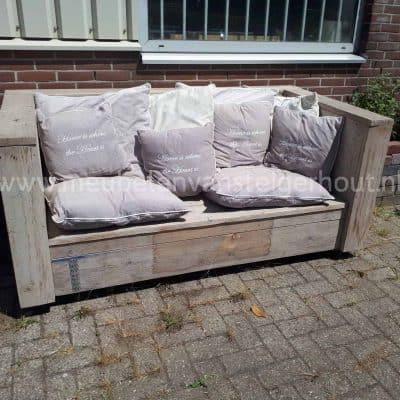 Steigerhout loungebank extra diep SALE