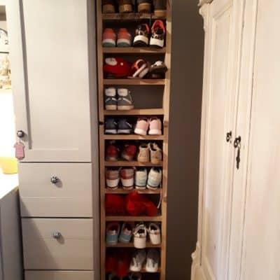 Steigerhout schoenenkast